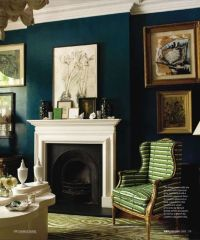 teal accent wall living room / For the home - Juxtapost