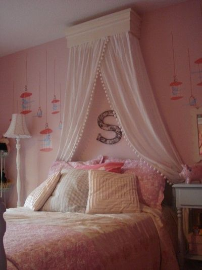 Love the curtains over the bed  kids rooms  Juxtapost