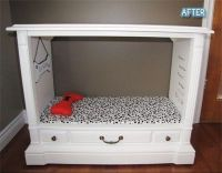 diy dog bed...made from an old tv! / puppies galore ...