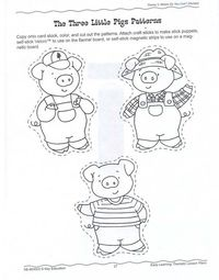 Posts similar to: 3 little pigs (craft stick puppets
