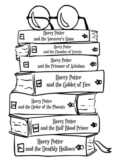 Harry Potter books SVG vector $1.00 / For my closet