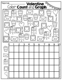Valentine Color, Count and Graph! / Preschool items