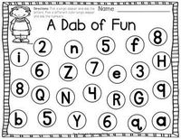 FUN bingo dabber activities to teach letters, numbers