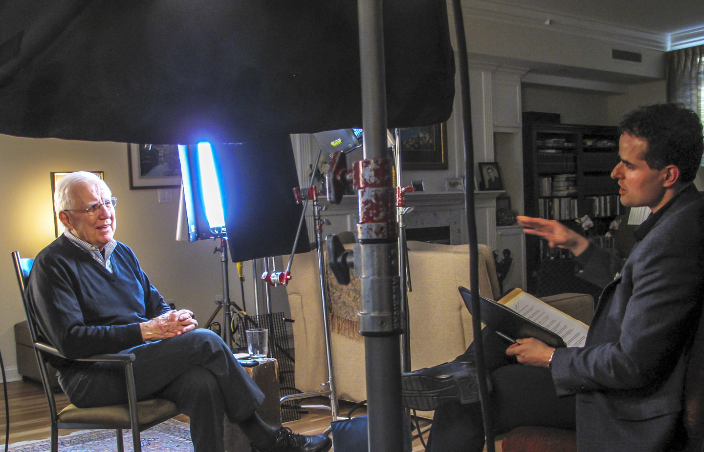 Director David Naglieri interviews former Reagan National Security Advisor Richard Allen in his Denver home.