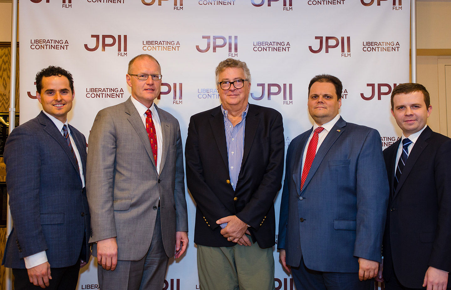 Director David Naglieri, Robert Rusiecki, Deputy Consul General of Poland in Chicago, Paul Hensler, event partner and filmmaker, and producer Szymon Czyszek at the premiere of the documentary in Chicago.