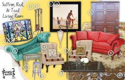 red teal yellow living room zen saffron for the home juxtapost