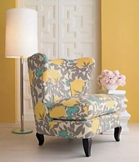 yellow turquoise accent chair / For the bedroom - Juxtapost