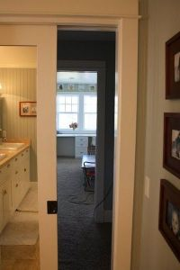 mirrored pocket door / bath ideas