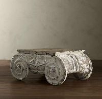 Distressed Ionic Capital Coffee Table / For the home ...