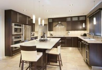 Black Kitchen Cabinets Dark Floors