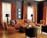 Living Room in Navy and Rust / For the home - Juxtapost