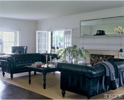 Hmmm potential layout Two sofas flanking fireplace tv o  For the home  Juxtapost
