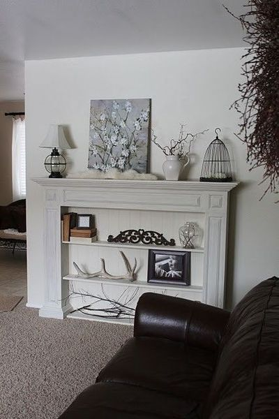 Faux Fireplace/Bookcase