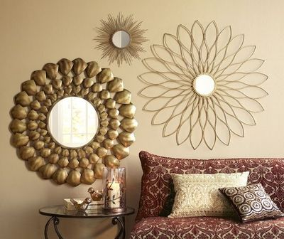 Silver With Gold Walls Living Room Decor