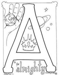 Posts similar to: Bible Alphabet coloring pages. A is for
