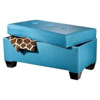 Teal Storage Bench Sparkle / For College - Juxtapost