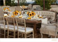 Outdoor sunflower table setting (Versailles furniture ...