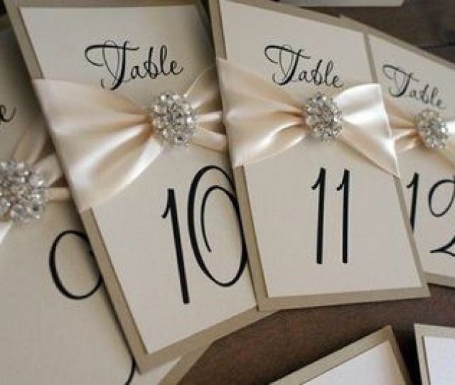Wedding Table Number Cards Love The Broach Detailing