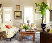 Create a vintage-inspired living room with silhouette ...