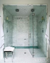 Integrated sunken tub inside shower / bath ideas - Juxtapost