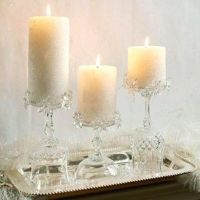 Repurposed - Fancy stemware becomes pretty candle holders ...