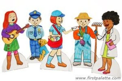Community Helper Paper Dolls Craft These Would Be Great For Preschool Items Juxtapost