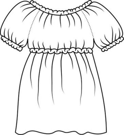 drawing of the blouse colouring pages (page 2)