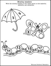 Preschool Math Worksheet For Spring / Preschool items