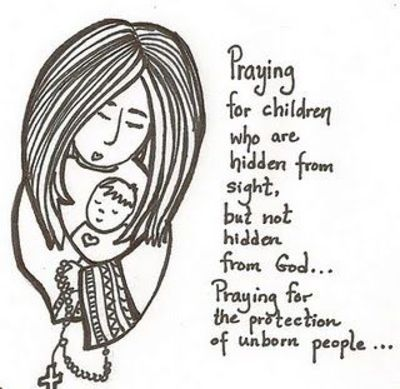 printable pro-life prayer coloring page / baby time