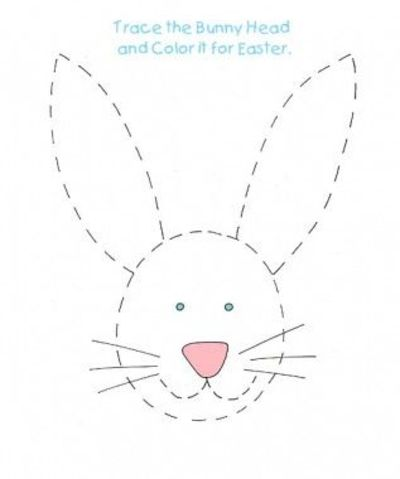 Easter bunny tracing activity! Find and print this on www