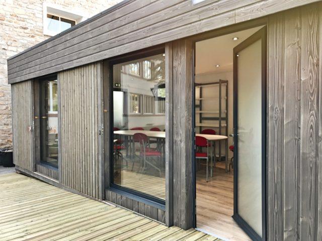 Construction modulaire en bois – salle des profs