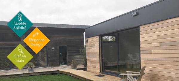 Annexe ou extension de maison en bois habitable à l'année
