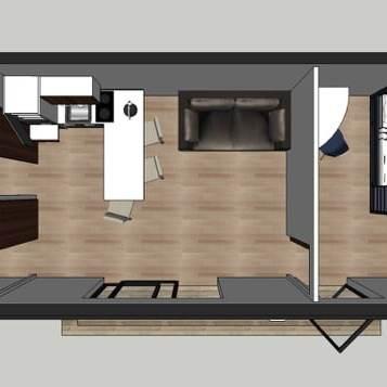 Vu en 3D du bureau