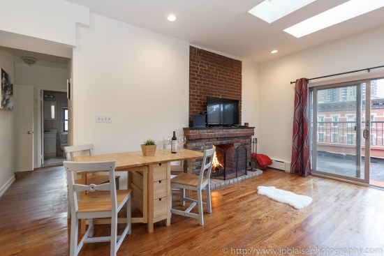 apartment photographer new york two bedroom in hells kitchen manhattan dining area