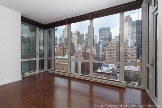 Apartment Photographer New York photoshoot one bedroom condo unit Midtown East ny nyc view