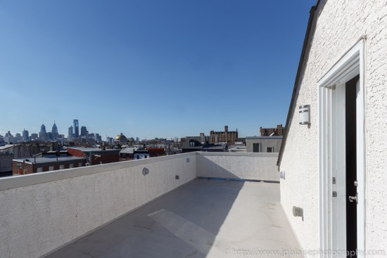 Real Estate photographer work: roofdeck and view from house