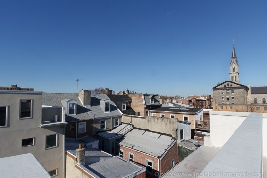 Interior photographer work: roofdeck and view from house