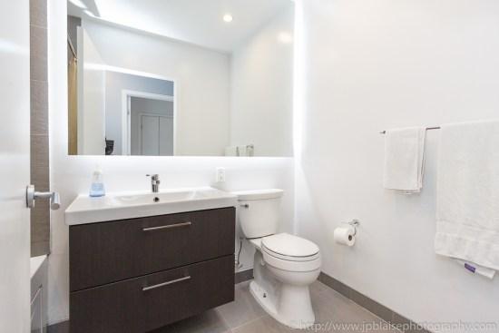 First bathroom of New York City condo apartment