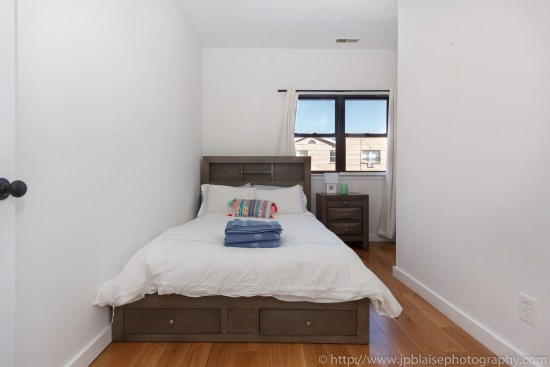 Brooklyn Real Estate photographer three bedroom apartment NYC New York bed 1