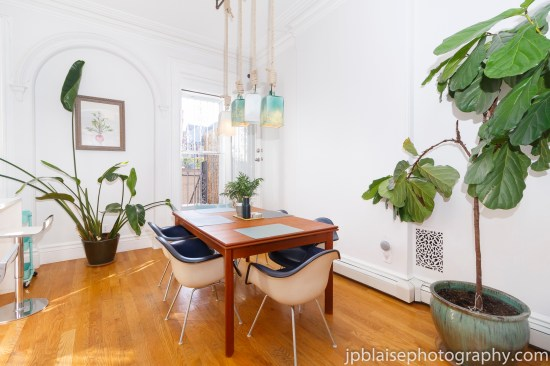 Brooklyn apartment photographer new york bed stuy real estate table