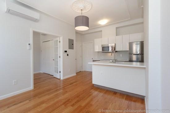 Brooklyn interior photographer work one bedroom in bedford stuyvesant new york