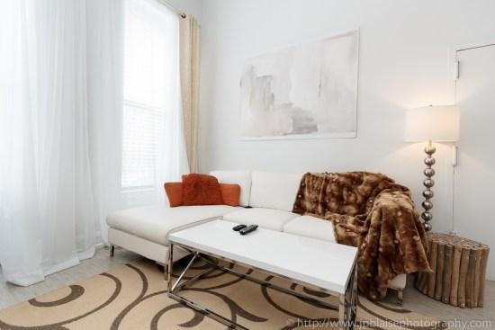 White Sofa in Harlem Loft apartment, NYC