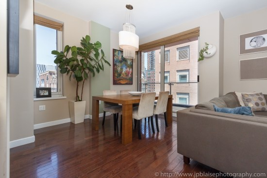 Interior photographer living room of midtown west apartment