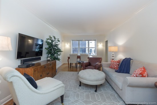 Interior photographer new york two bedroom apartment in murray hill