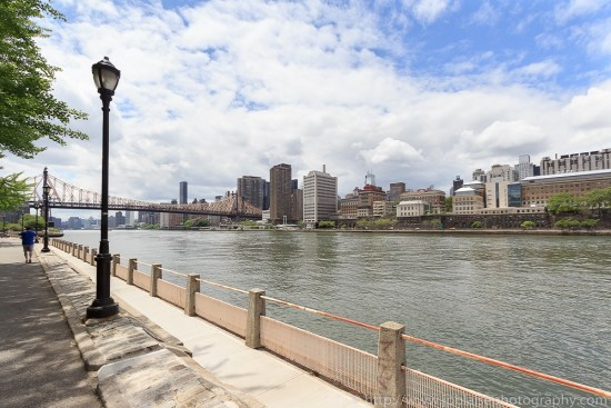 Apartment Photographer Work: picture of the view of Midtown Manhattan Skyline and Queensboro Bridge from Roosevelt Island