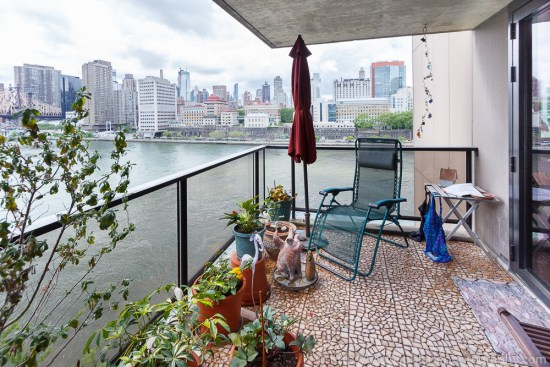 Latest Real Estate Photography Work: picture of the view of Midtown Manhattan Skyline from a Roosevelt Island balcony