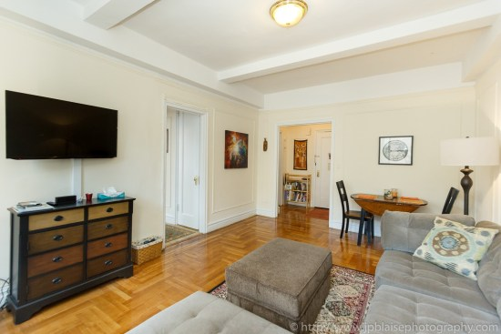 Interior photography work one bedroom in washington heights new york city