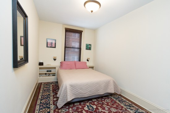 First bedroom of Brooklyn Heights property
