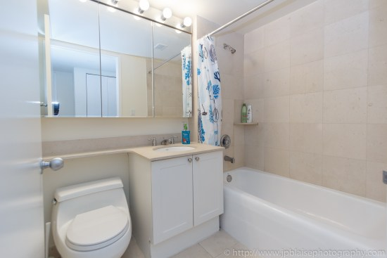 Latest New York interior photographer work two bedroom two bathroom in Midtown East, Manhattan second bathroom