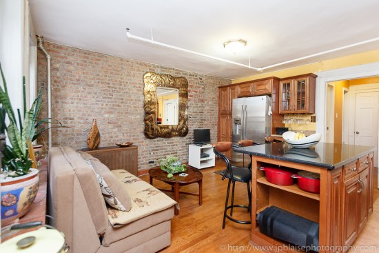 New York City professional photography of living room (Harlem apartment)